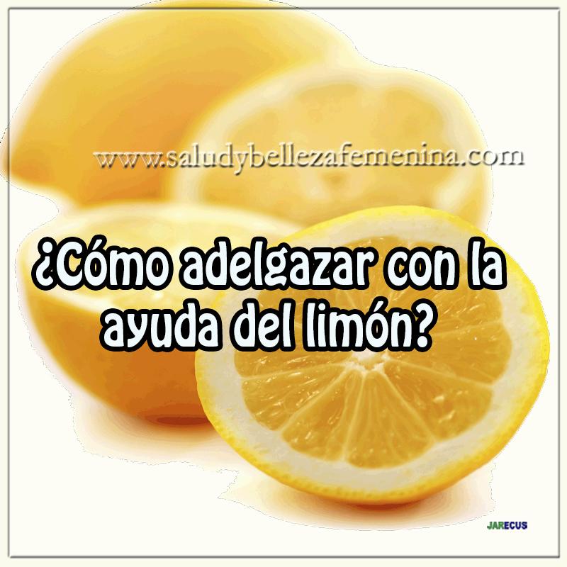 Dietas y nutrición, limón, receta quemagrasa,receta bajar peso¿Cómo adelgazar con la ayuda del limón?