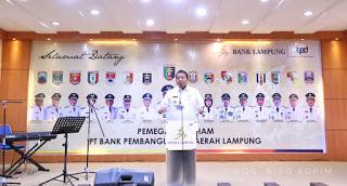Gubernur Arinal Minta Jajaran Direksi PT. Bank Lampung Profesional dan Bersinergi dengan Kabupaten/Kota