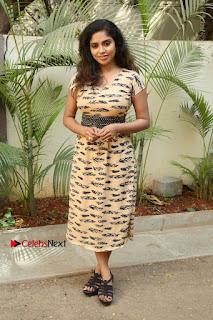 Telugu Actress Karunya Chowdary Stills in Short Dress at ATM Not Working Press Meet  0299.jpg