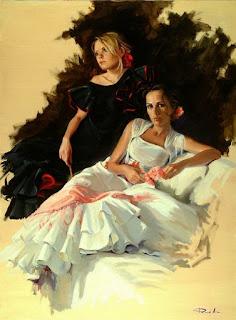 chicas-en-cuadros-artísticos-lienzos-al-oleo mujeres-pinturas-oleo