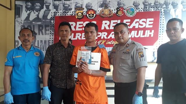 Transaksi Di Prabumulih, Kurir Sabu Asal Palembang Diringkus Polisi