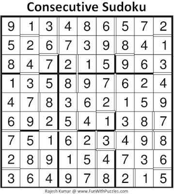 Consecutive Sudoku (Daily Sudoku League #135)
