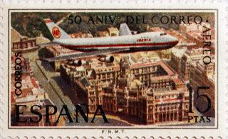 50 ANIVERSARIO DEL CORREO AÉREO, BOEING 747