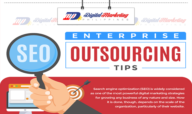 Enterprise SEO Outsourcing Tips #infographic