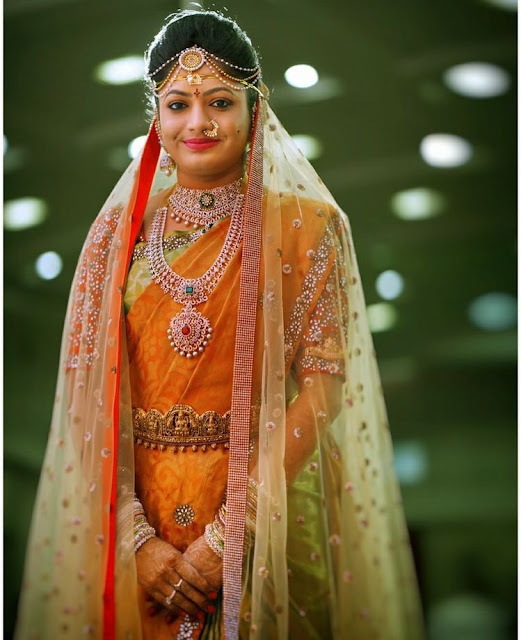 Bride in Diamond Haar Astalaxmi Vaddanam