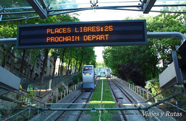 Funicular a Montmatre, Paris