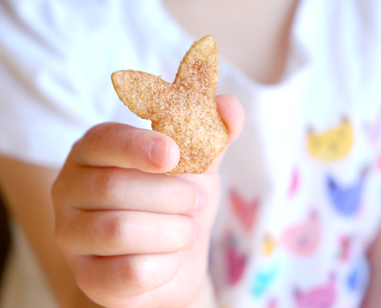Spring or Easter Cinnamon Chips Snack for Kids
