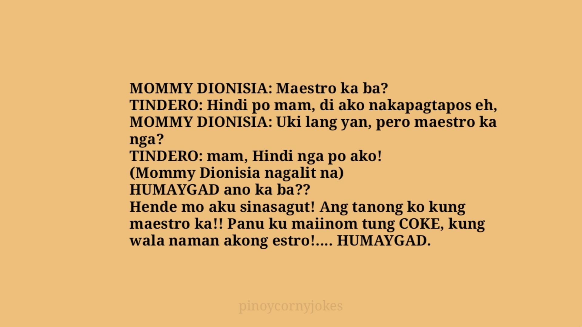 dionisa pinoy jokes