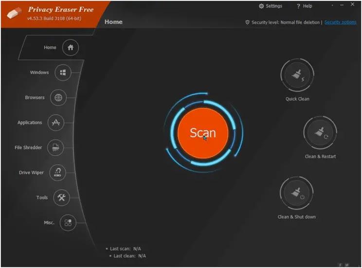 Privacy Eraser Free :  Σουίτα όλα-σε-ένα  για τη βελτιστοποίηση του υπολογιστή σας