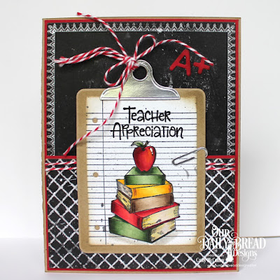 Class Act, Chalkboard Paper Collection, Book Fold Cards, Notebook Paper Stamp & Die Duo, ODBD Custom Dies: Clipboard Set, A+ Apples, Pierced Rectangles