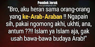 JANGAN KEARAB-ARABAN!!!
