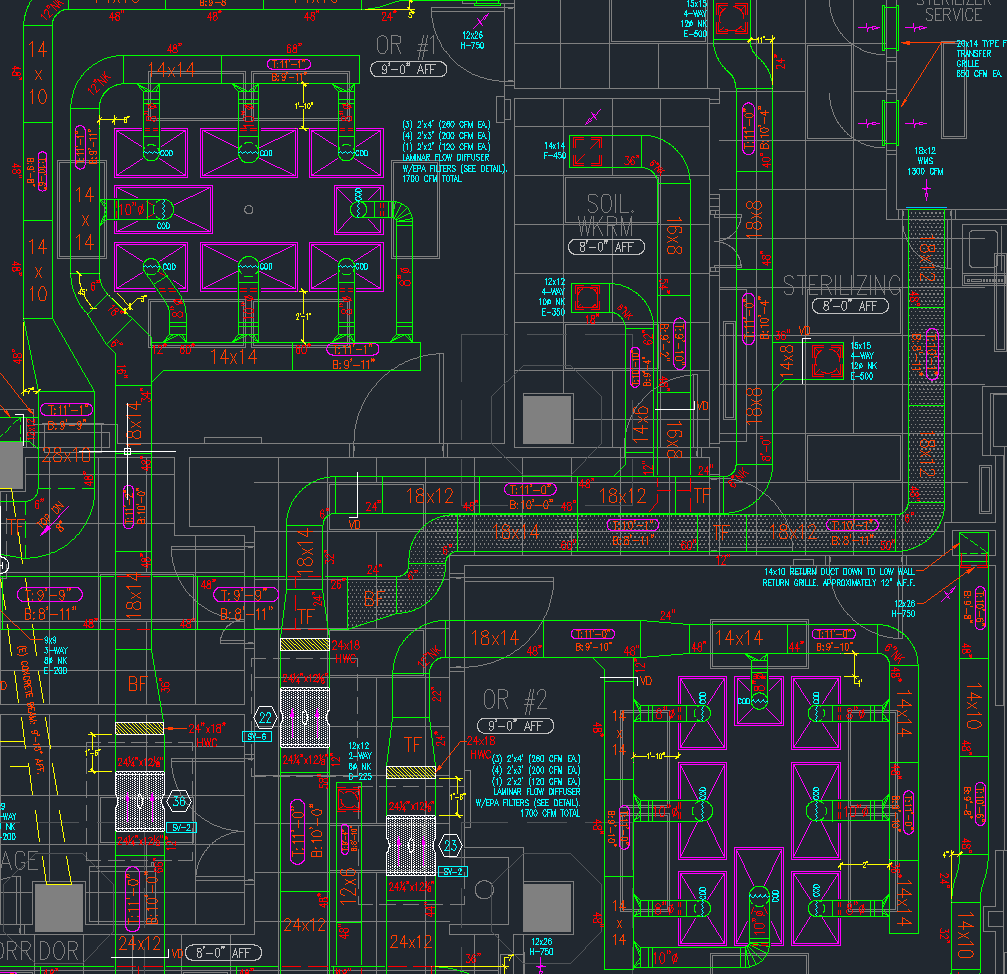 hight resolution of hvac shop drawings