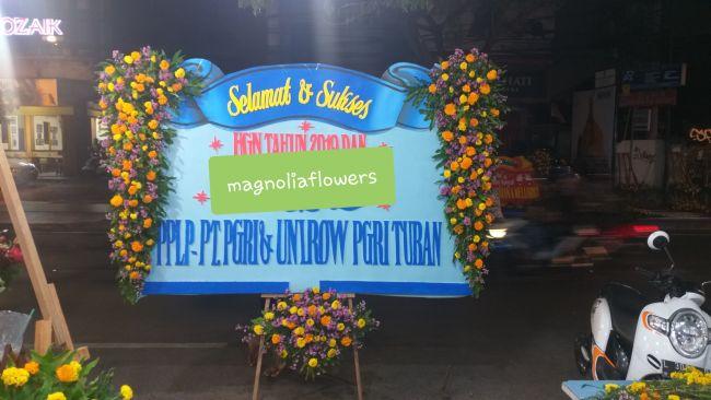 bunga ucapan selamat surabaya, bunga papan digital printing surabaya, jual bunga papan surabaya