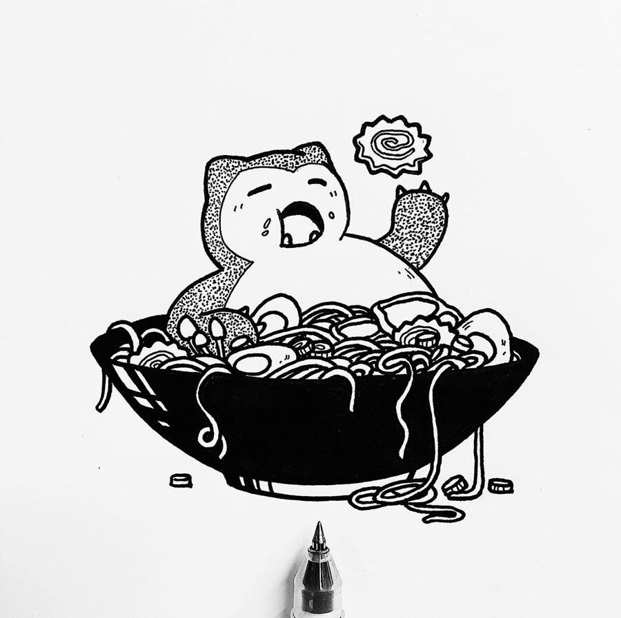 06-Food-Art-Ink-Drawings-Stephanie-Mai-www-designstack-co