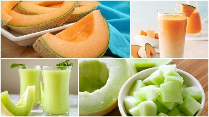 Cara membuat jus melon hijau dan melon kuning