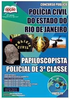 Apostila PCERJ - PAPILOSCOPISTA POLICIAL RJ - 2014.