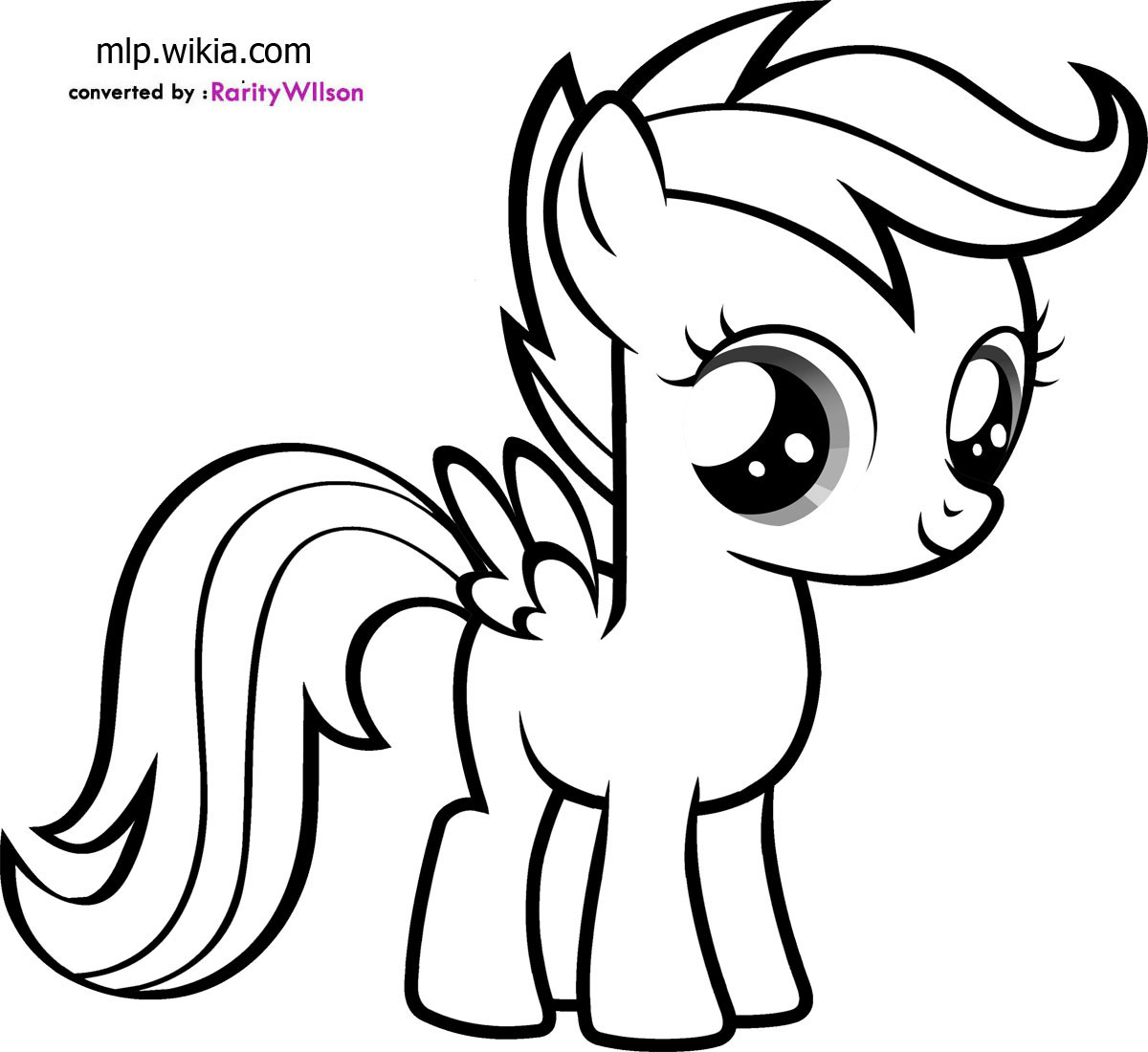 my little pony apple bloom hicoloringpages