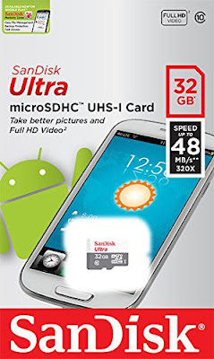 Amazon's is offering SanDisk Ultra MicroSDHC 32GB UHS-I Class 10 Memory Card at just Price Rs.499