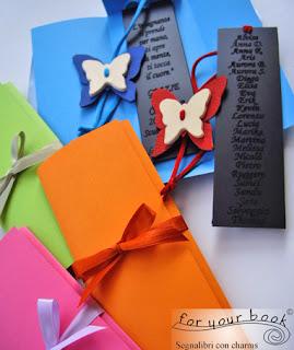 regalo maestre segnalibro inciso  ciondolo farfalla