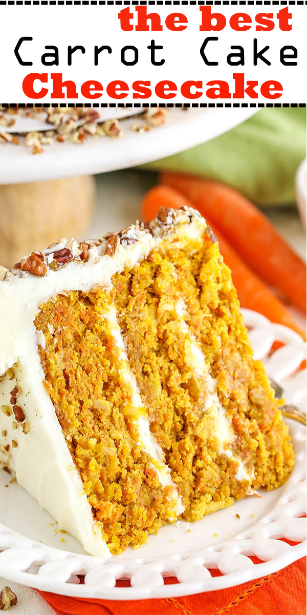 the best Carrot Cake Cheesecake #thebest #Carrot #Cake #Cheesecake #thebestCarrotCakeCheesecake