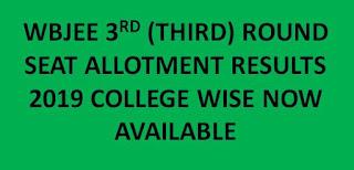 WBJEE Third Allotment Results 2019 Rank list @ wbjeeb.nic.in 1