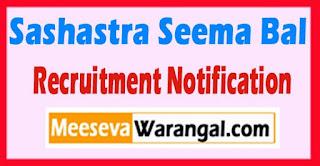 SSB (Sashastra Seema Bal) Recruitment Notification 2017  Last Date 20-06-2017