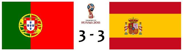 Portugal 3-3 España / Mundial de Rusia 2018 - el troblogdita - ÁlvaroGP