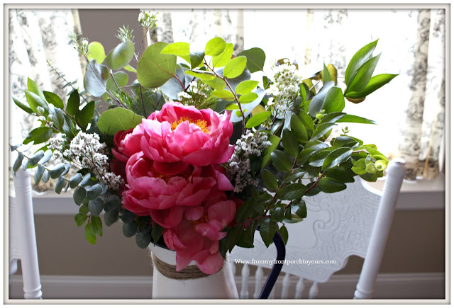 Mother's Day Peony Bouquet- Peony Flower Arrangement-Pink Peony-Farmgirl Flowers-From My Front Porch To Yours