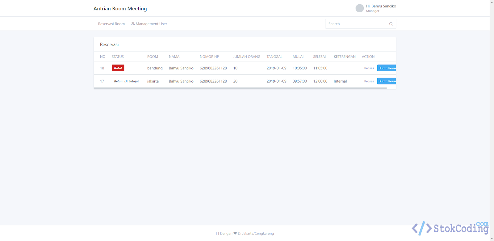 Aplikasi Sistem Antrian Berbasis Web (Codeigniter)