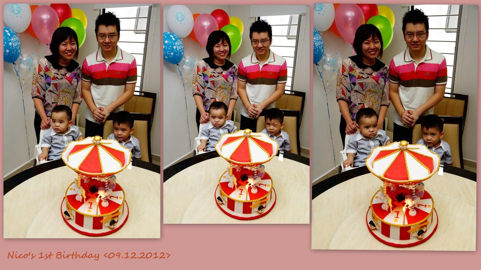 Happy 1st Birthday To You Nico Boy Daddy Mummy Kimi Kor Wish And Healthy Always LOVE YOU