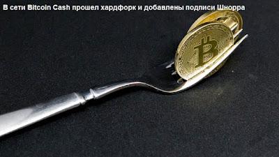 В сети Bitcoin Cash прошел хардфорк и добавлены подписи Шнорра