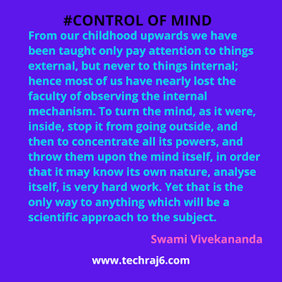 Control Of Mind Quotes By Swami Vivekananda