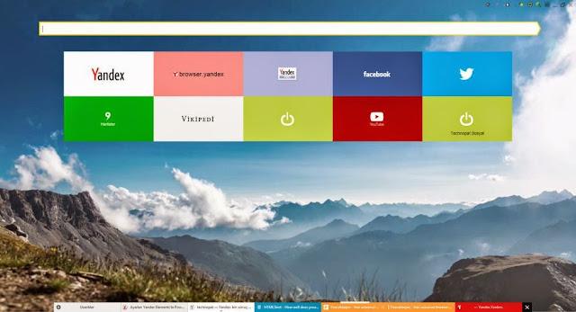 برنامج yandex browser لتصفح شبكه الانترنت اخر اصدار 2016