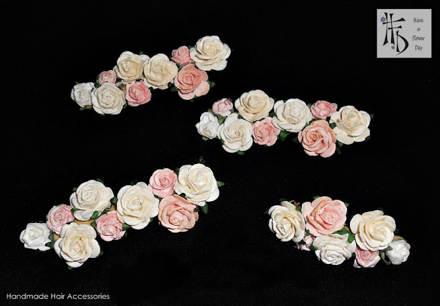 MINI FLOWERS. Pasadores con flores · Flowes hairclips