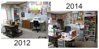 My quilt studio in 2012 and also in 2014 l conniekresin.com