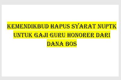 Kemendikbud Hapus Syarat NUPTK untuk Gaji Guru Honorer dari Dana BOS