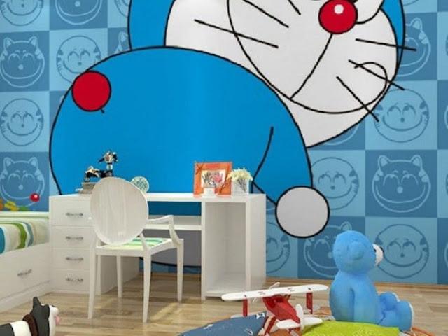 Rumah Serba Doraemon Kamar Tidur Intergasi Meja Belajar
