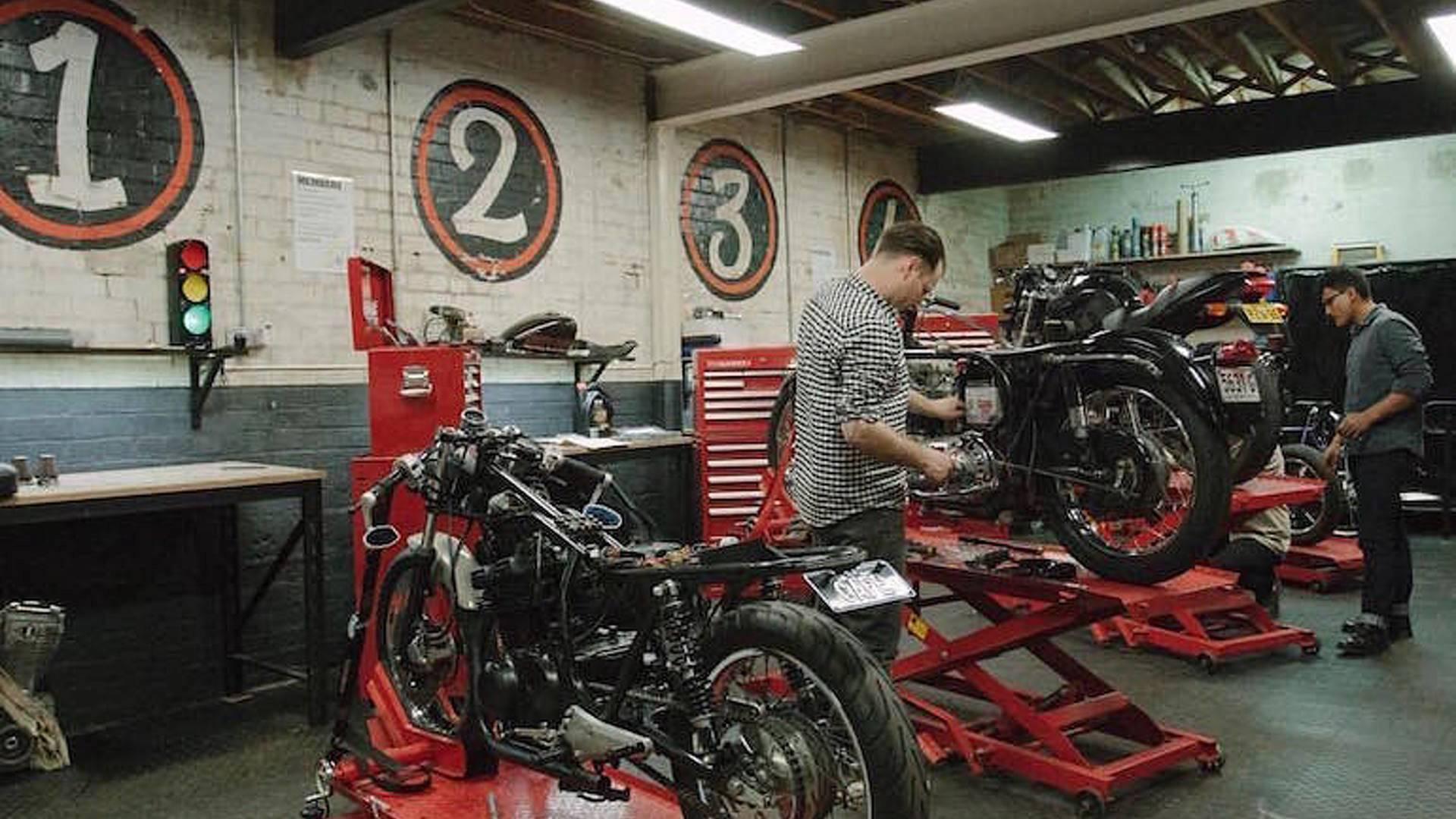 motorcycle servicing shop