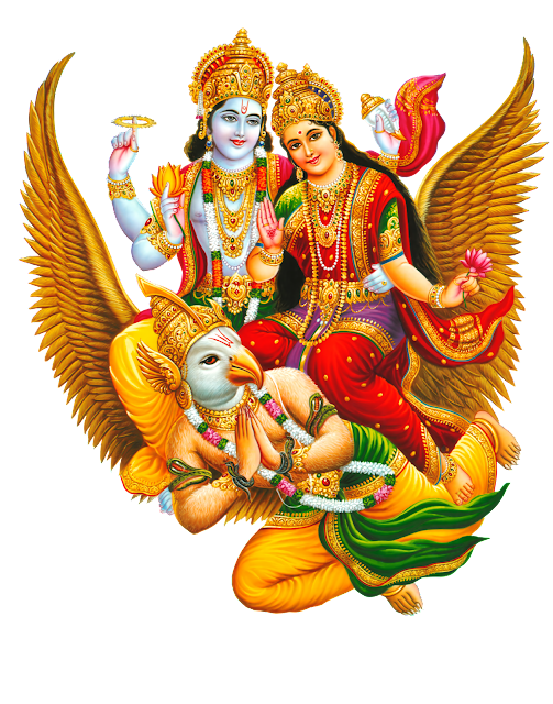 Lord Vishnu Png with Goddes Shri Mahalakshmi  images