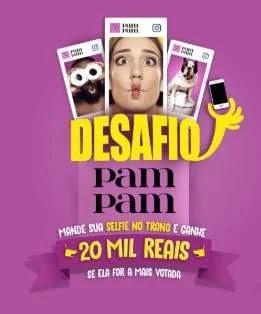 Cadastrar Promoção PamPam Desafio No Trono 20 Mil Reais - Enviar Foto Selfie