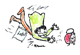 Diane's sketch for blog Time Was, Time Is...