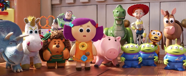Toy Story 4 characters in Bonnie's Room