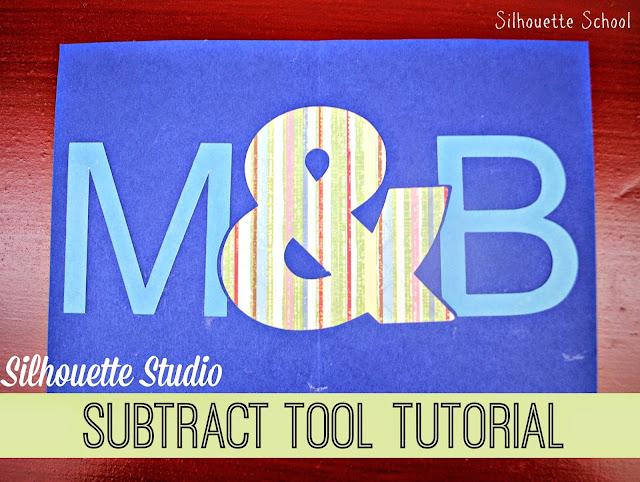Subtract, subtract all, Silhouette tutorial, Silhouette Studio, silhouette 101