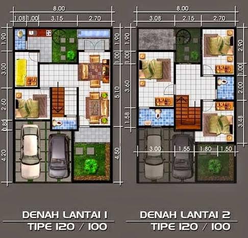 desain rumah ukuran 8x12 meter - desain rumah mesra