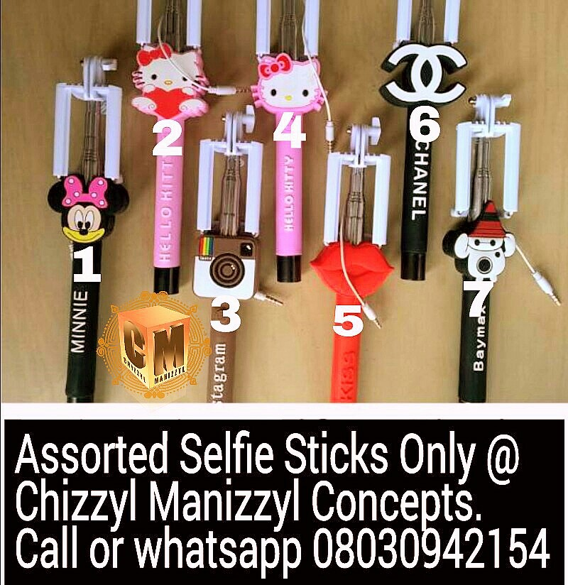 8658e0ee0c4c Get your different Exclusive Assorted Selfie Sticks at Chizzyl Manizzyl  Concepts . Pls call or whatsapp 08030942154. BBM 5690AAA0 BBM Chanel   C00322EFB