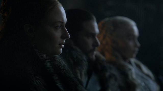 Daenerys Targaryen, Sansa Stark, Jon Snow, Juego de Tronos, Review, 8x01