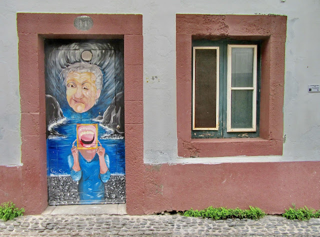 mysterious painting on the door of the old zone