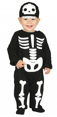 baby halloween kostuum skelet