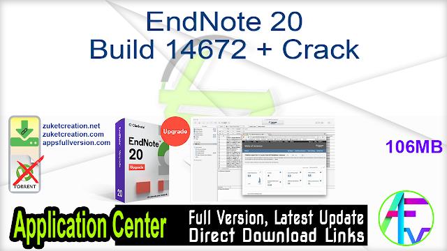 EndNote 20 Build 14672 + Crack
