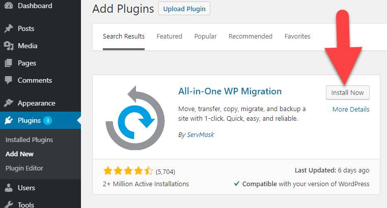 Download The WP Migration Plugin
